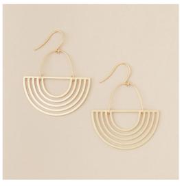 Solar Rays/Gold Vermeil Earring