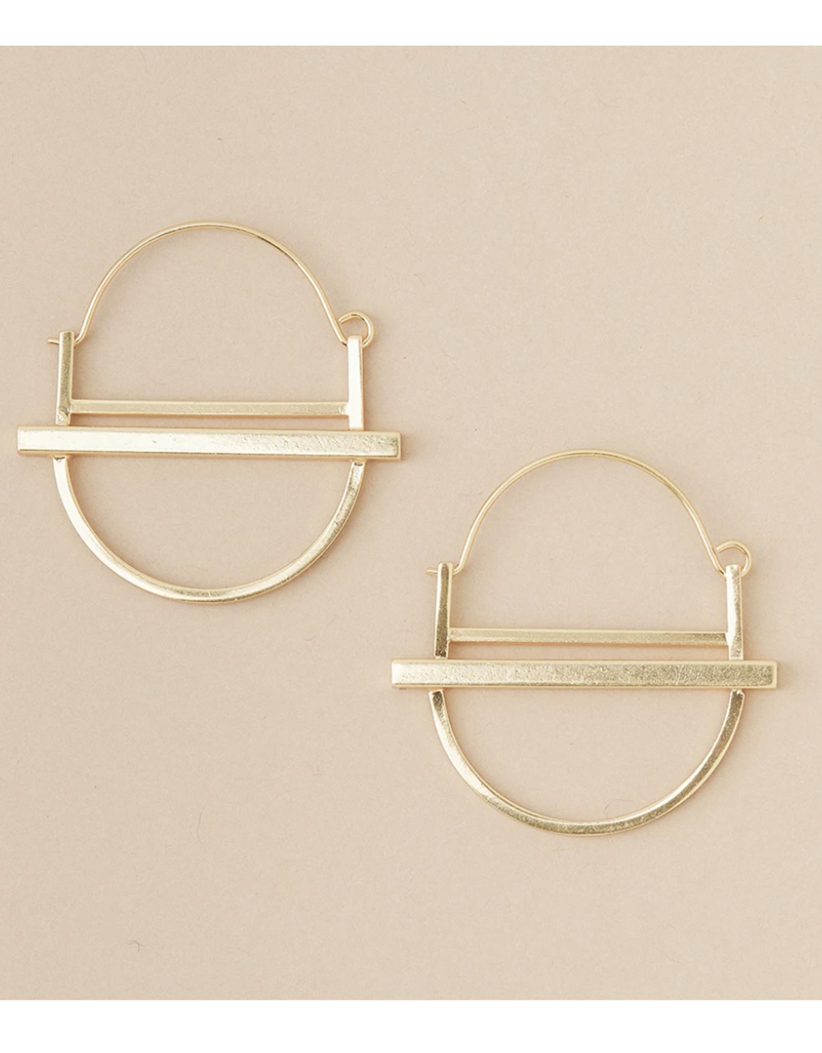 Saturn Hoop/Gold Vermeil  Earring