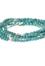 Turquoise/silver Wrap