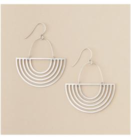 Solar Rays Sterling Silver Earrings