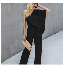 ePretty Navy One Shoulder Jumpsuit