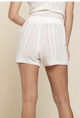 POL Clothing Cable Knit Shorts