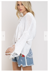 POL Clothing Off White lightweight sweater