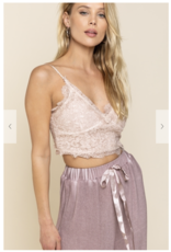 POL Clothing Lace Crop Top