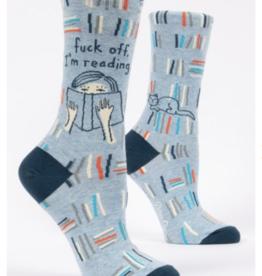 Fuck Off I'm Reading crew socks