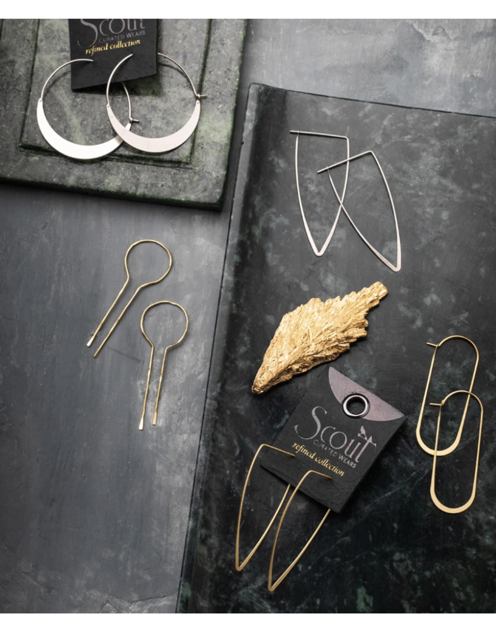 Equinox Keyhole Hoop/Gold Vermeil earrings