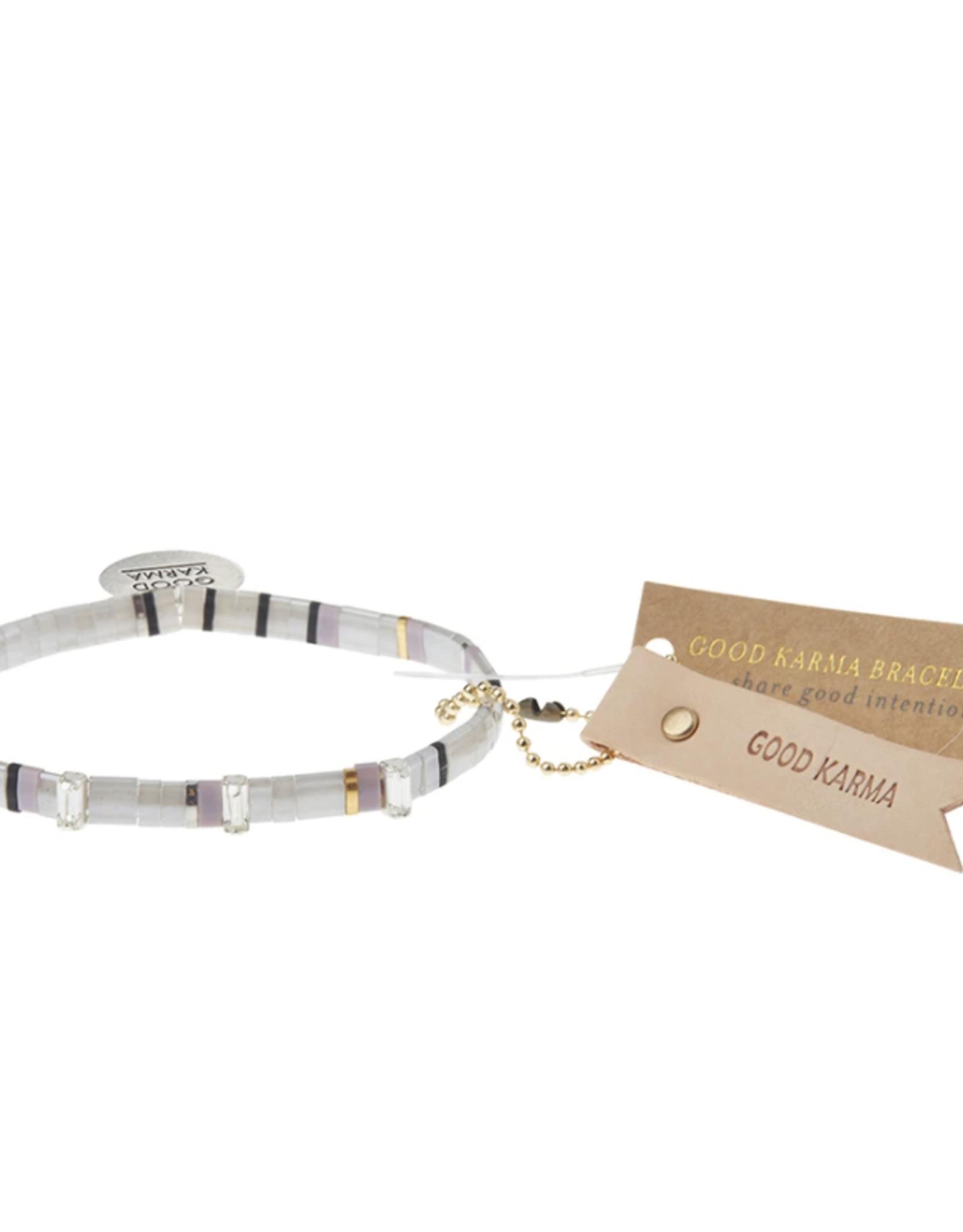 Good Karma Miyuki Charm Bracelet silver