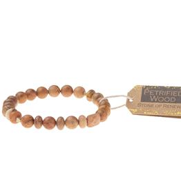Petrified Wood Stone -stone of renewal bracelet