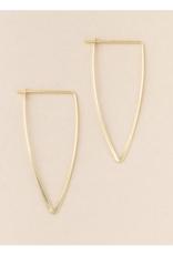 Galaxy Triangle/Gold Vermeil Earring 18k