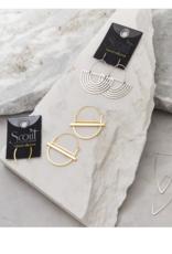 Galaxy Triangle sterling silver earrings