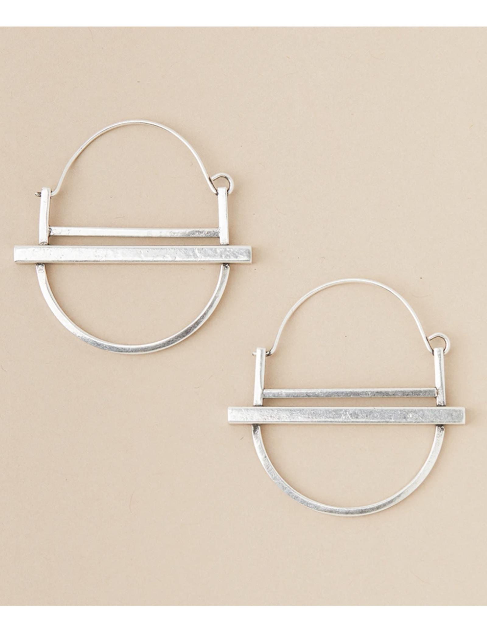 Saturn Hoop sterling silver earrings