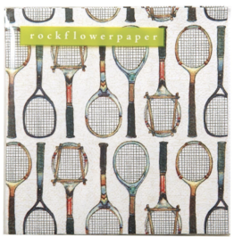 Tennis racket napkins