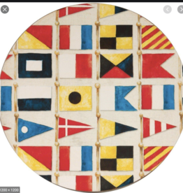 Nautical Flags Round Coaster Set