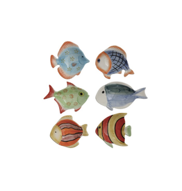 "Creative Co Op Fish Dish 3"" ceramic"