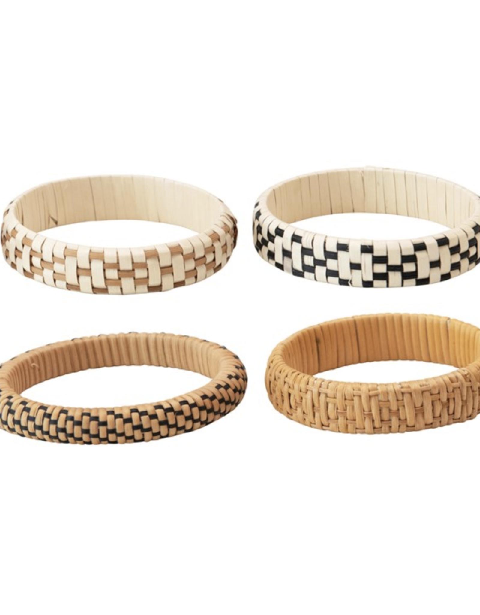 Creative Co Op Rattan Bracelets