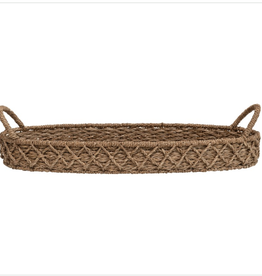 Creative Co Op Oval Bankruan  Weave Tray
