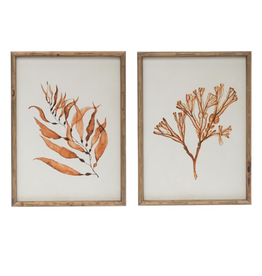 Creative Co Op Wood Framed Wall Decor-15 3/4 by 21 1/4 H