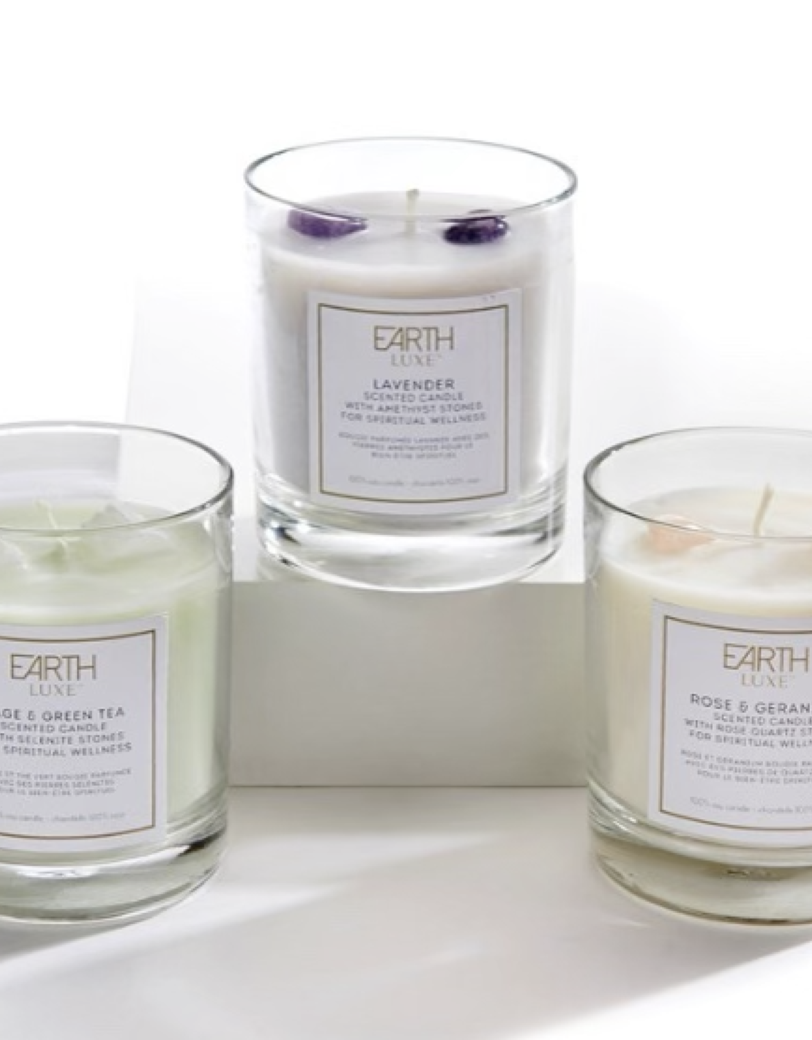 Earth Luxe Crystal Wellness Candle