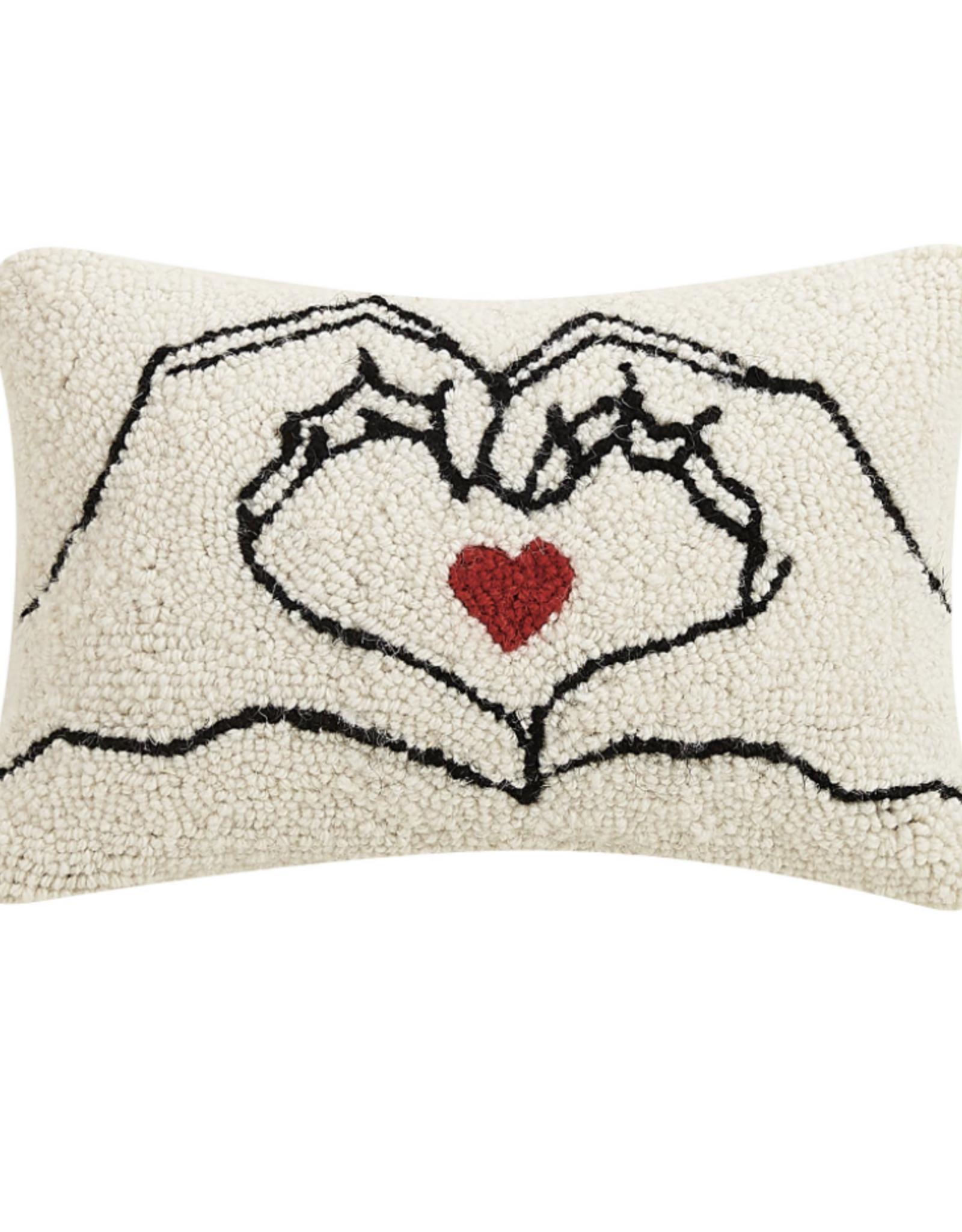 Heart Hands pillow 8 x 12 hook