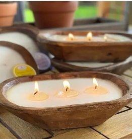 Large Petite Wood Candle