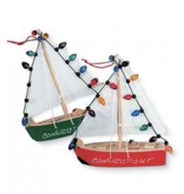 Cape Shore Sailboat w/ lights ornament