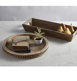 47 &Main Round Beaded Tray -decorative tray keep dry