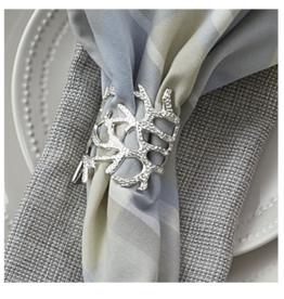 Split Pea Silver Coral Napkin Ring