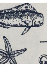Split Pea Captain's Quarters Dishtowel- Natural