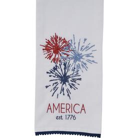 Split Pea America Embroidered Dishtowel