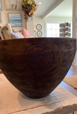 Creative Co Op Mango wood walnut finish tapered bowl