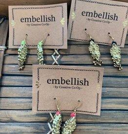 Creative Co Op Embellish Alloy Earrings