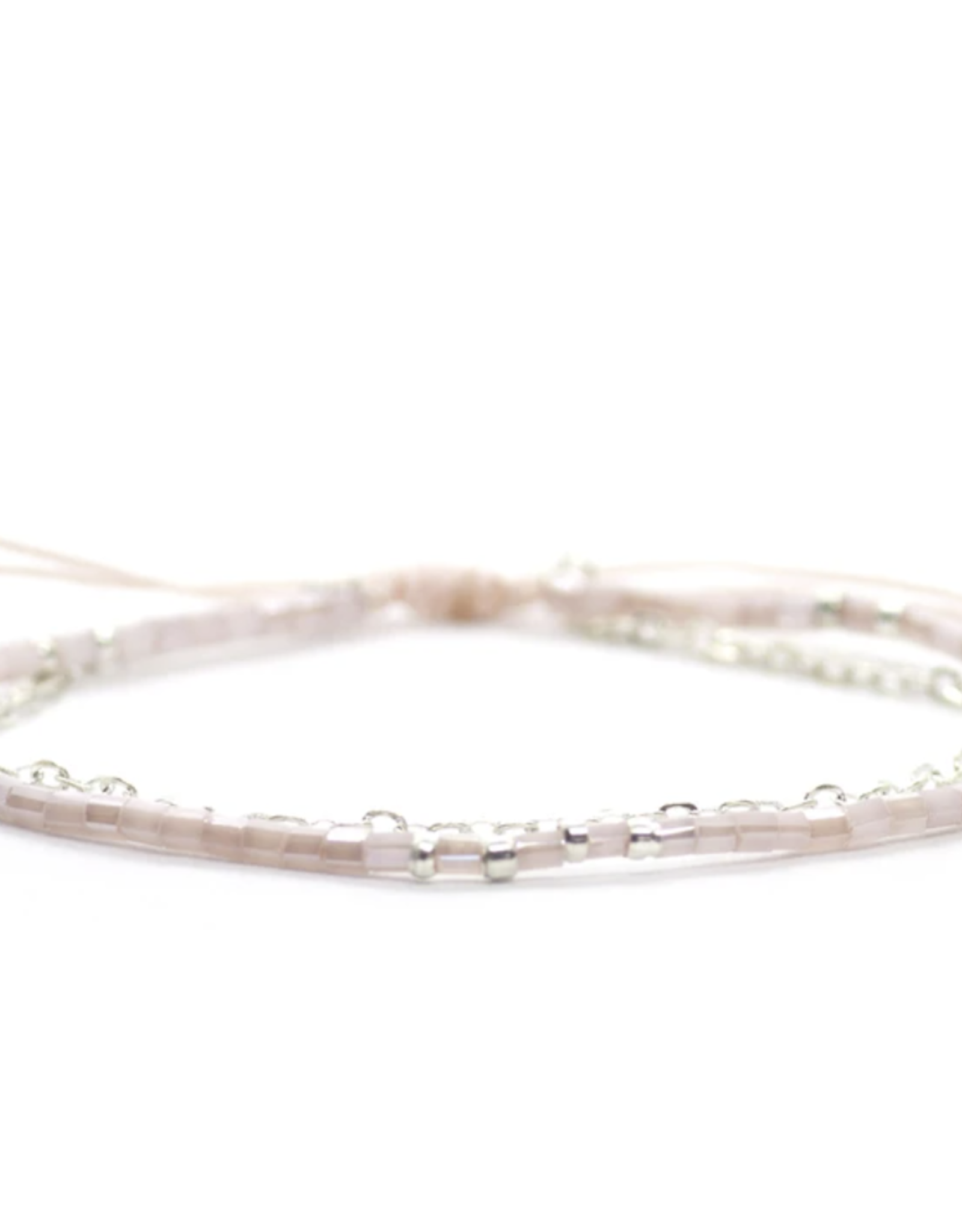 Salty Cali Bead & Chain Light Pink Bracelet