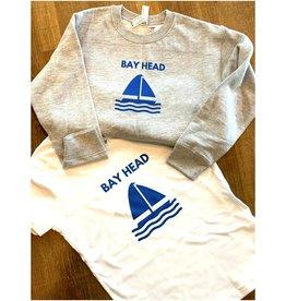 Bella Canvas kids Bay Head s/s white tee shirt sailboat