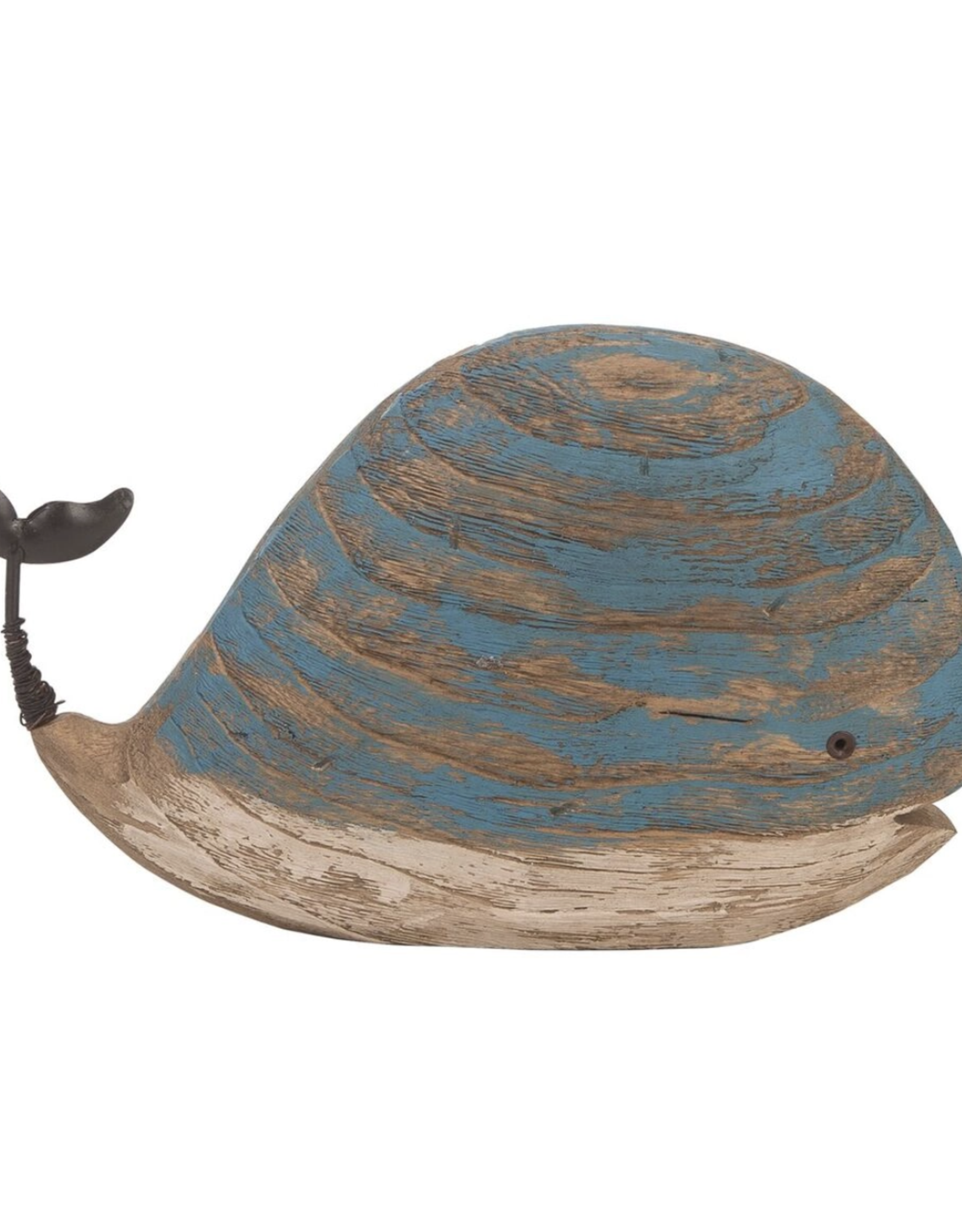 Wood Turquoise  Whale