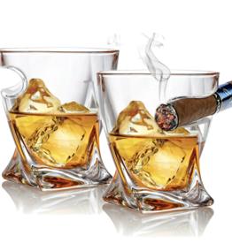 Bezrat Cigar Holder Glass set of 2