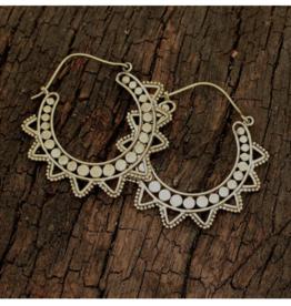 Brass Starburst Earrings