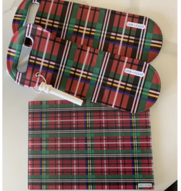 Line +Cleat Large holiday plaid cutting board