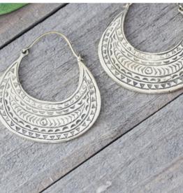 Baizaar Brass Etched Earrings