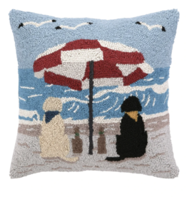 Beach Labrador Dogs Hook Pillow