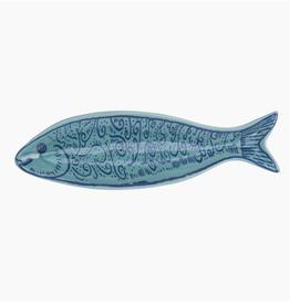 Beachcombers Fish Spiral Dish Blue