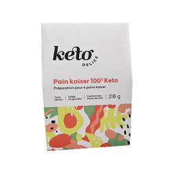 KETO DELICE Préparation de pain Kaiser 100% keto 218g