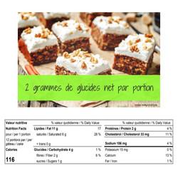 Dessert Gâteau aux Carottes 336g