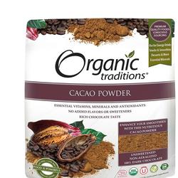 ORGANIC TRADITIONS Poudre de cacao 454g