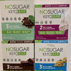 NO SUGAR  box bars