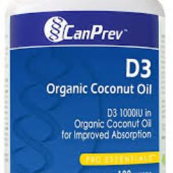 CAN PREV Vitamin D3 120 capsules