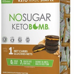 NO SUGAR CO. Keto Bomb Chocolat Noir Beurre d'Arachide (30x17g)