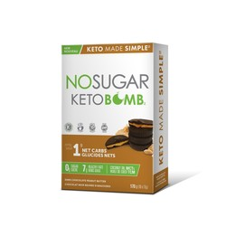 NO SUGAR Keto Bombs Dark Chocolate Peanut Butter 10x17g