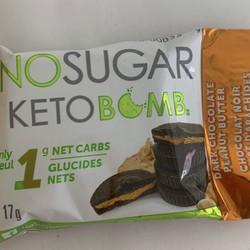 Keto Bomb Chocolat Noir Beurre d'Arachide 17g