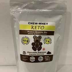 CHEW-WHEY KETO Brownie Espresso Chocolaté 250g