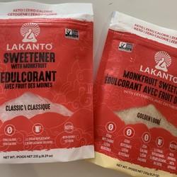 LAKANTO Sweeteners  Monks Fruit (2 types) 235g
